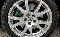 Alloy wheels after