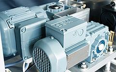 Motor von SEW in grau für Trockeneisgerät